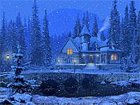 Зимний коттедж